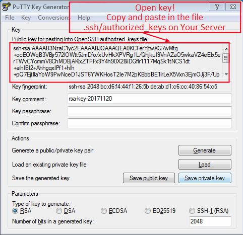 generate ssh key linux authorized_keys