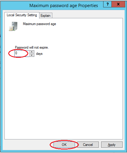 windows Server 2012 passwd age zero