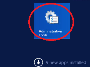 windows Server 2012 administrative tools
