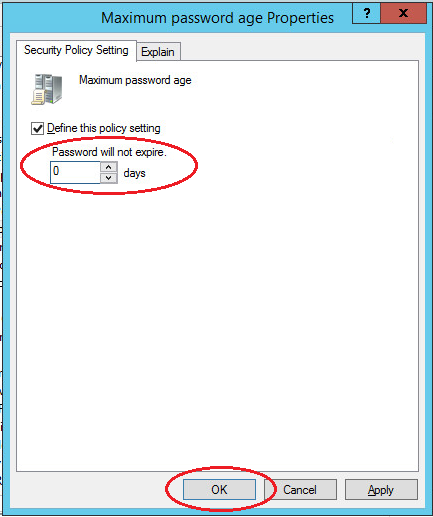 Changing user password in Windows Server 2012 with Active