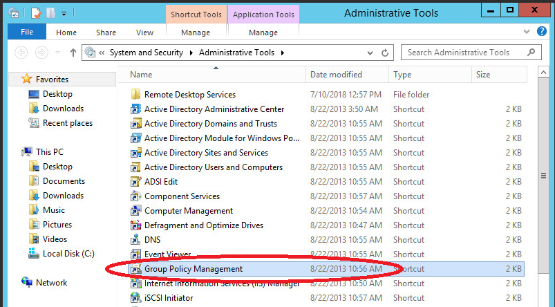 windows Server 2012 AD group policy