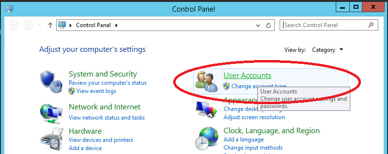 windows Server 2012 User Accounts