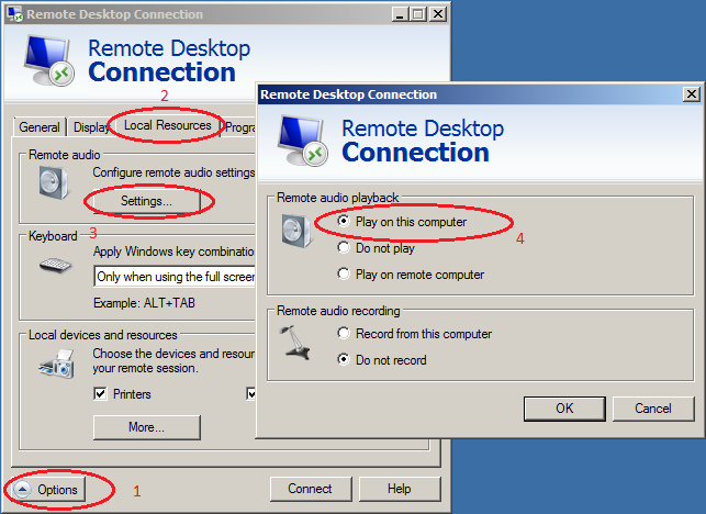 windows server 2008 rdp client