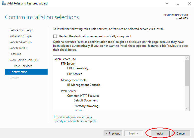 Setting up an FTP server on Windows Server 2016