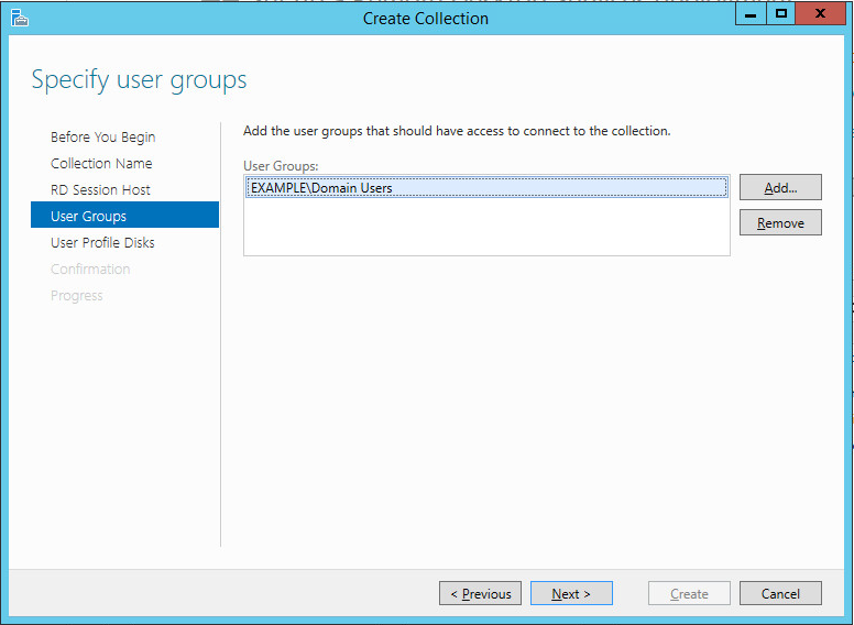 Shadow Copy Mode in AD--Create Collection--User Groups