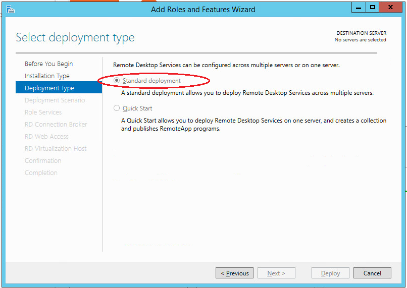 Shadow Copy Mode in Active Directory--Deployment Type