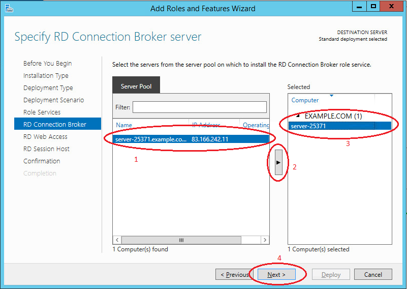 Shadow Copy Mode in Active Directory--RD Connection Broker