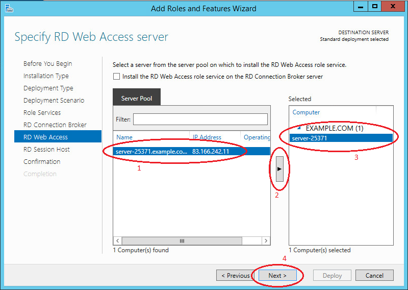 Shadow Copy Mode in Active Directory--RD Web Access